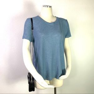 PROJECT SOCIAL Ribbed Blue T-Shirt